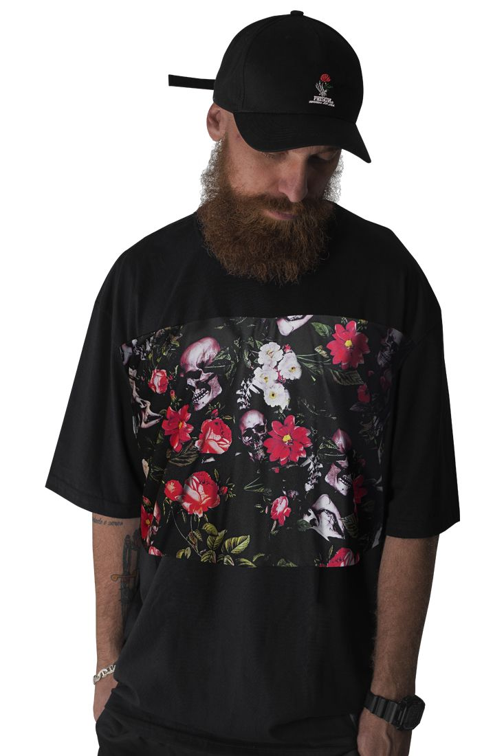 Camiseta Exclusive Floral Skull Prison