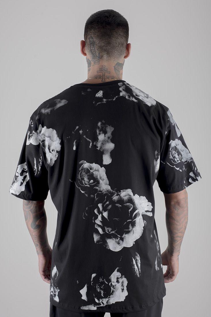 Camiseta Prison Floral Nyc Preta