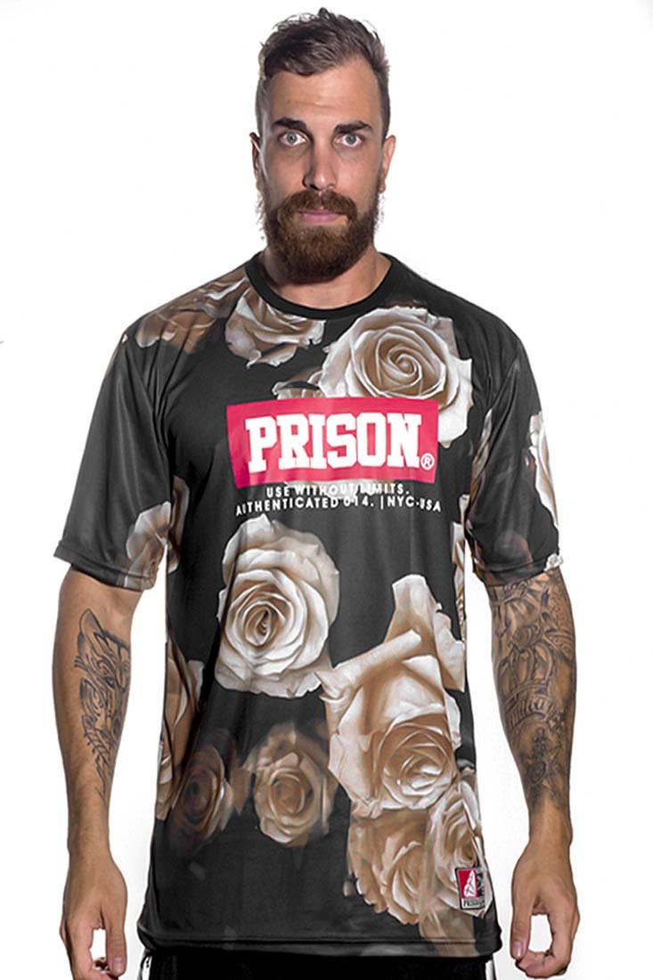 Camiseta Floral Gold Prison Preta