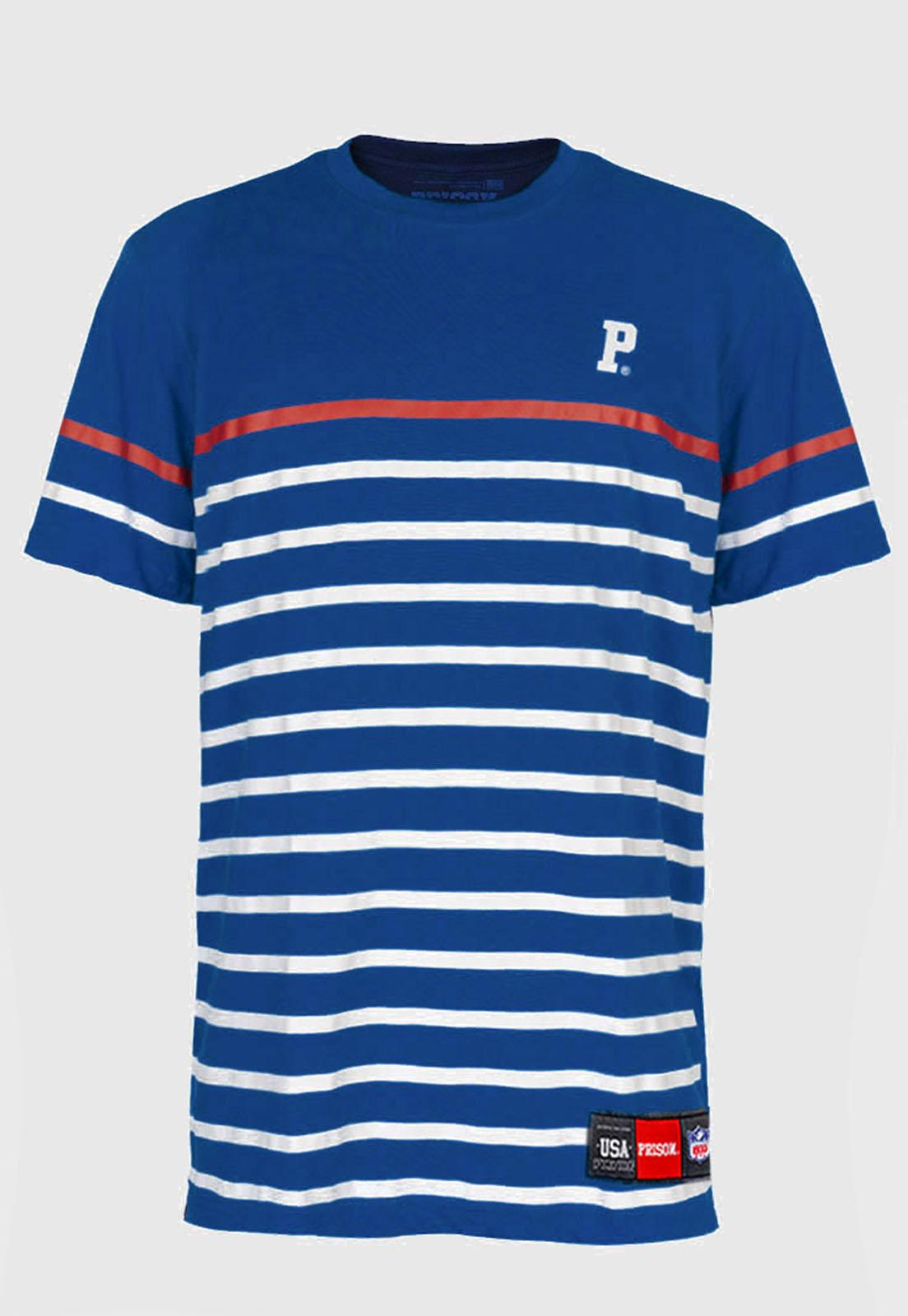 Camiseta Listrada Prison Azul Club