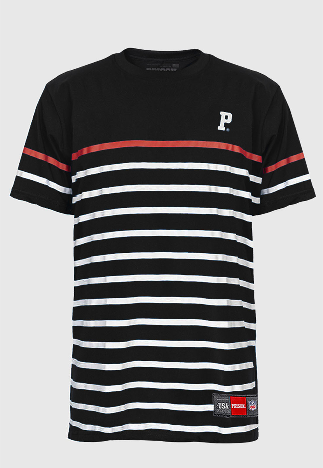 Camiseta Listrada Prison Black Club