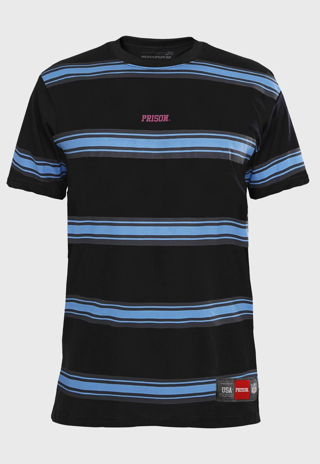 Camiseta Listrada Prison Retro Blue