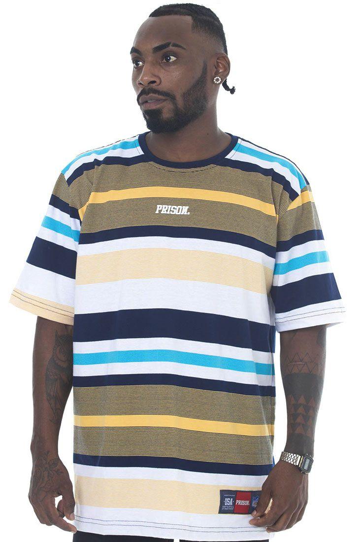 Camiseta Listrada Prison Seas