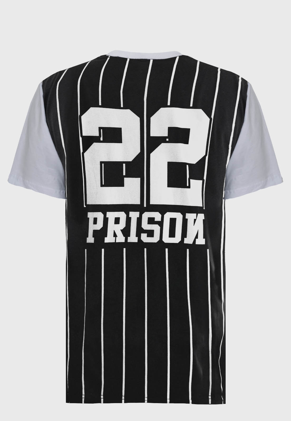 Camiseta  Listrada Prison Streetwear Baseball 22