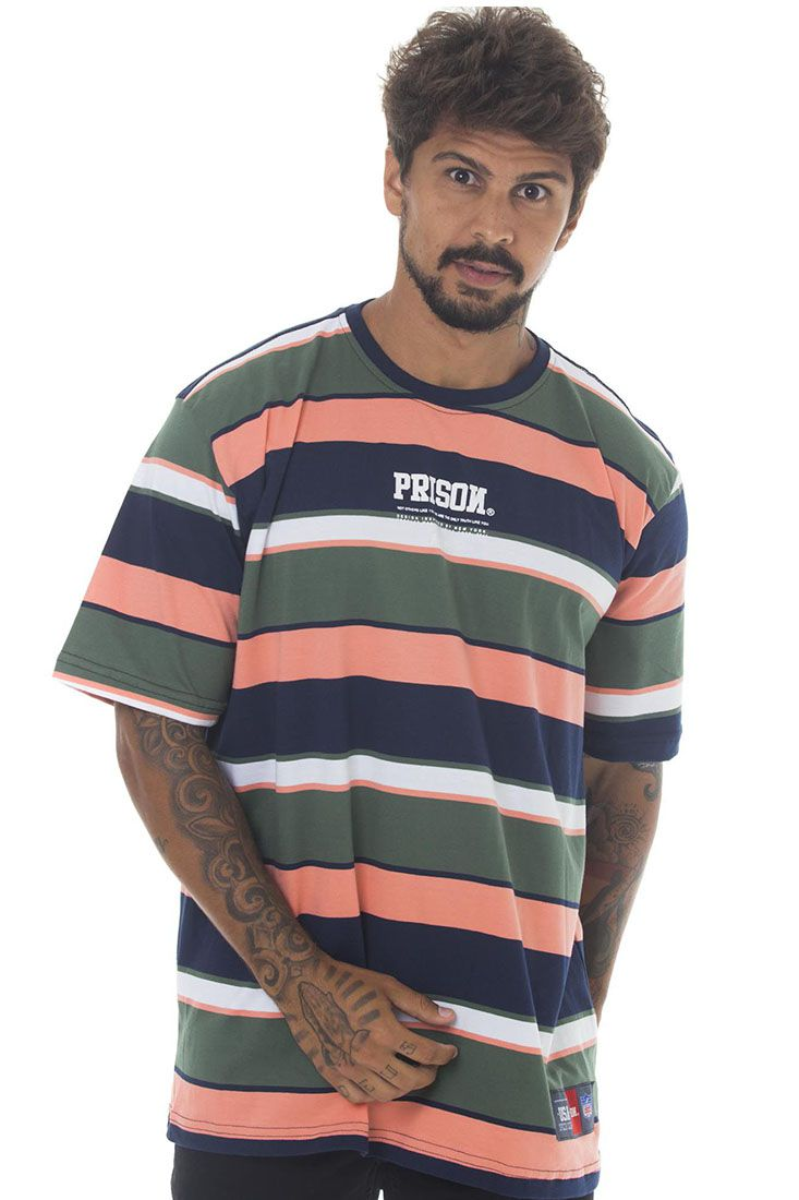 Camiseta Listrada Prison Youngs