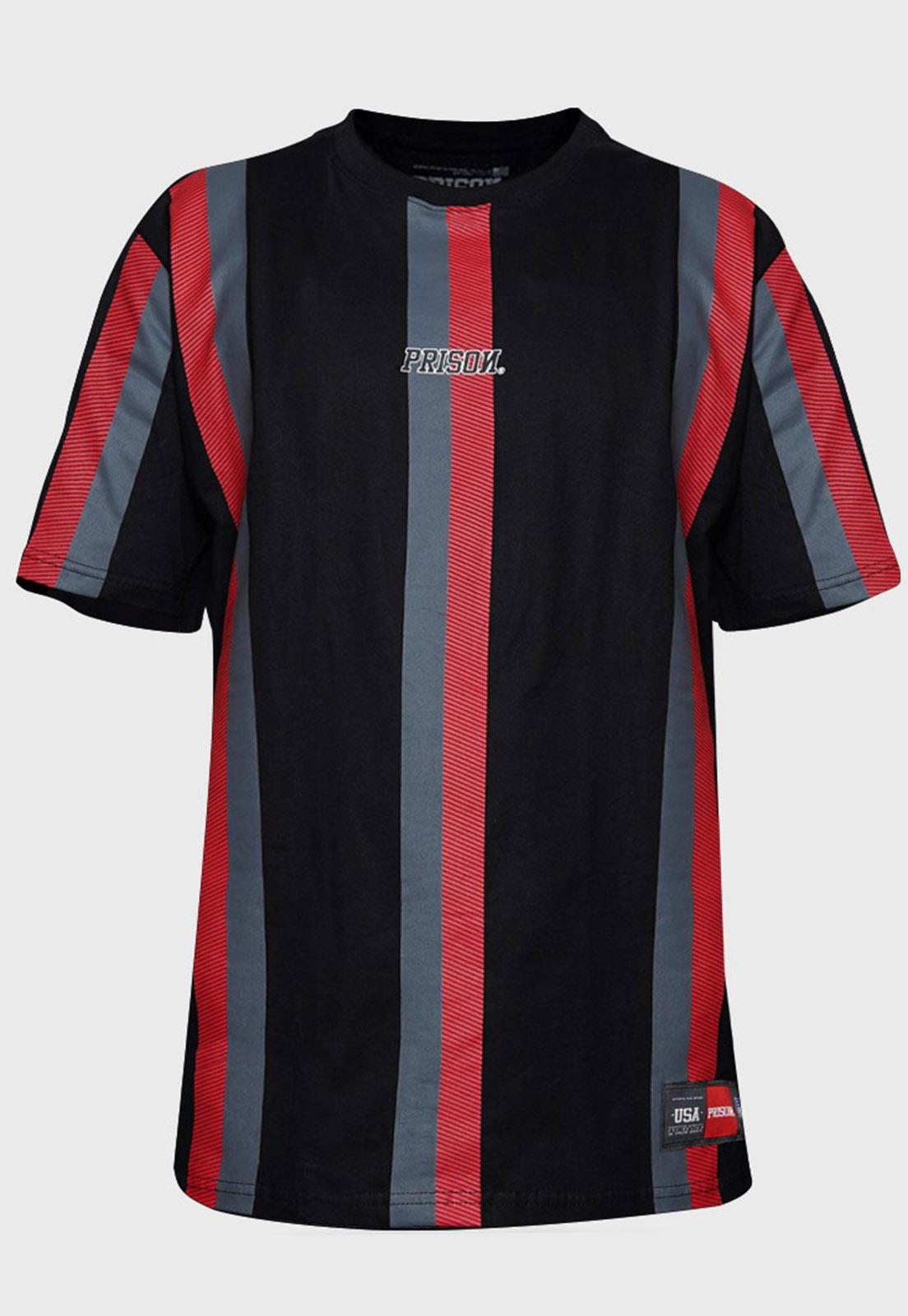 Camiseta Listrada Vertical Red Prison