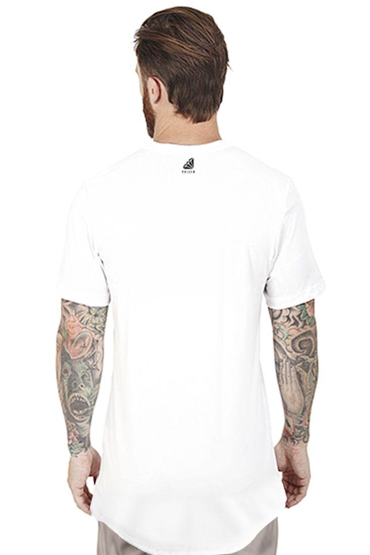 Camiseta Long Line Street Prison Branca
