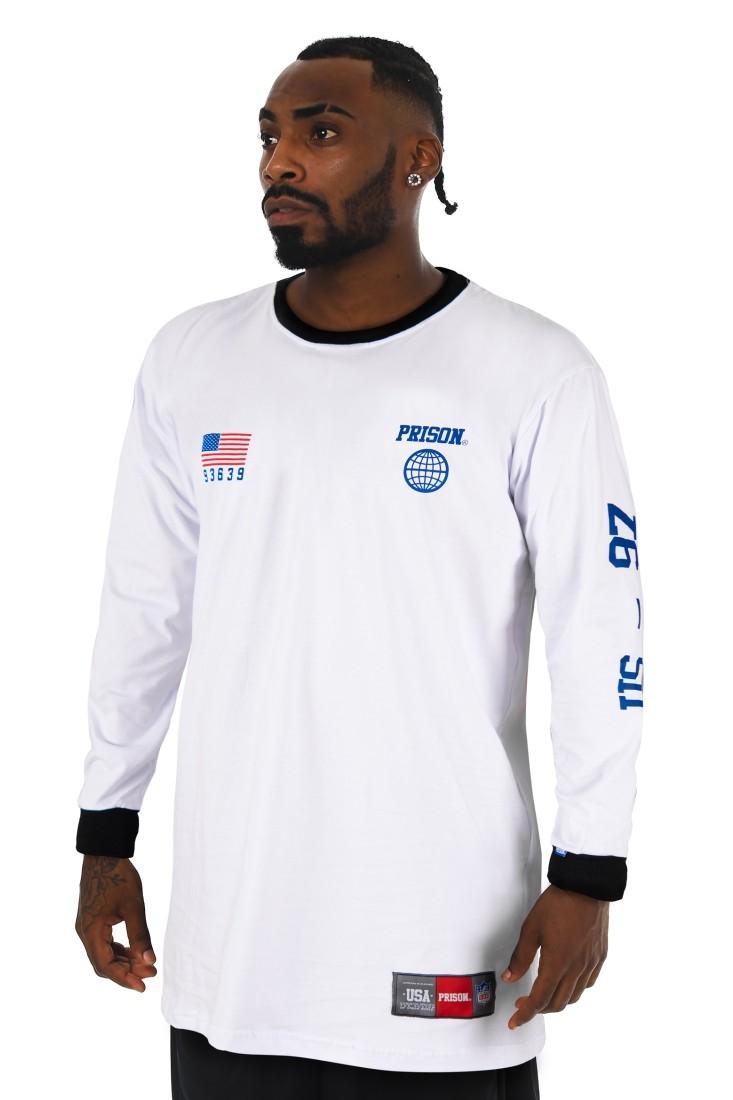 Camiseta Manga Longa Prison NY Legend Branca