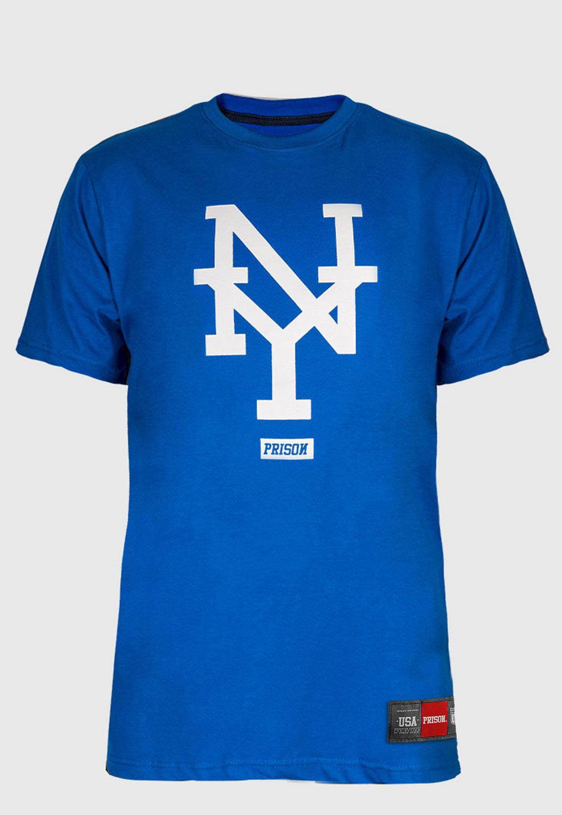 Camiseta New York Prison Azul
