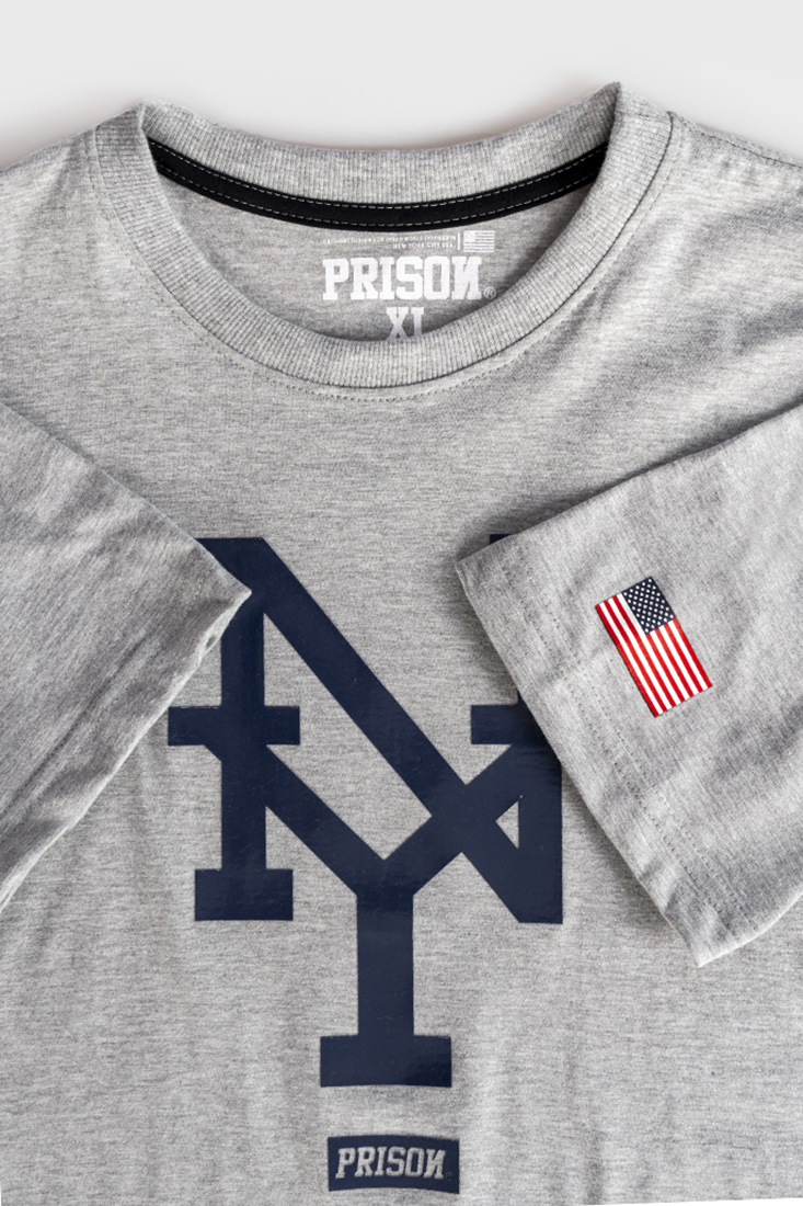 Camiseta New York Prison Mescla