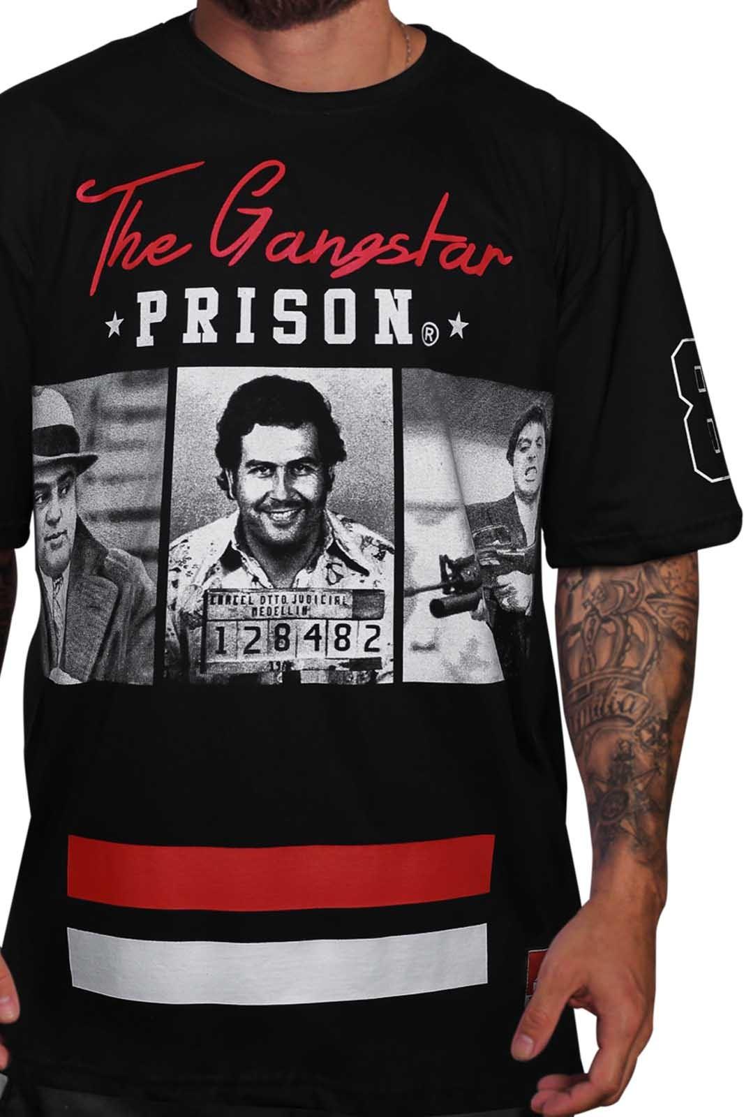 Camiseta Pablo Escobar Gangstar Prison Preta