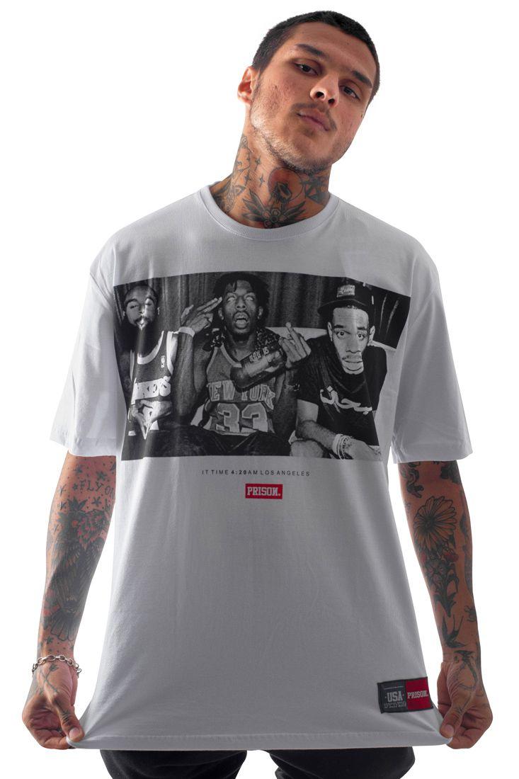 Camiseta Prison 4:20 IN LA Branca
