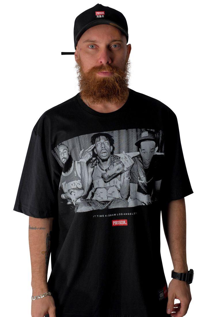 Camiseta Prison 4:20 IN LA Preta