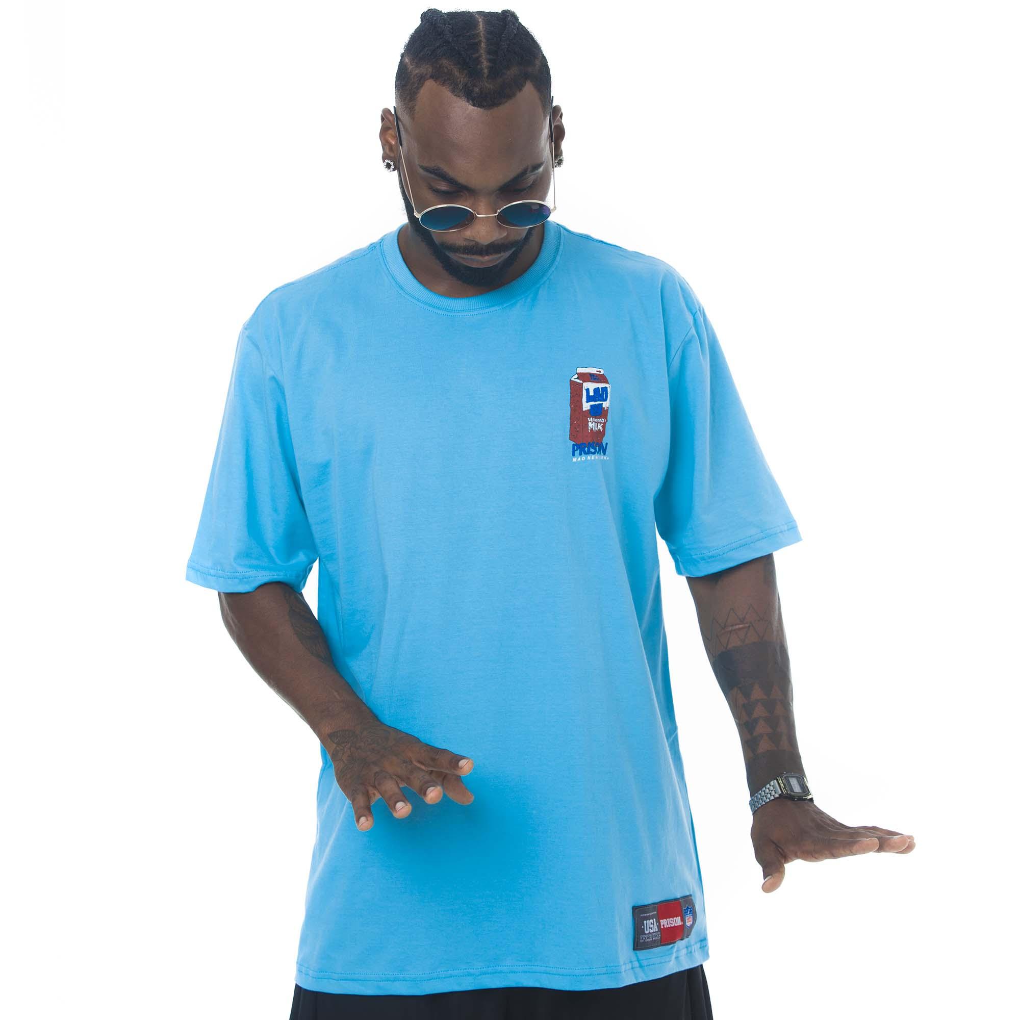 Camiseta Prison Acid Milk Azul