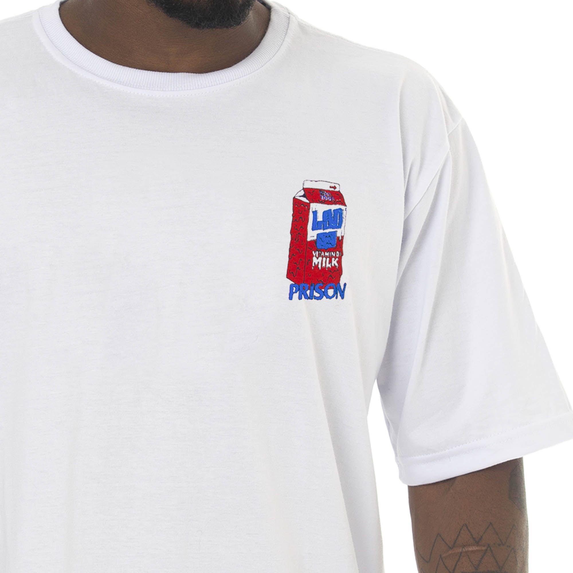 Camiseta Prison Acid Milk Branca