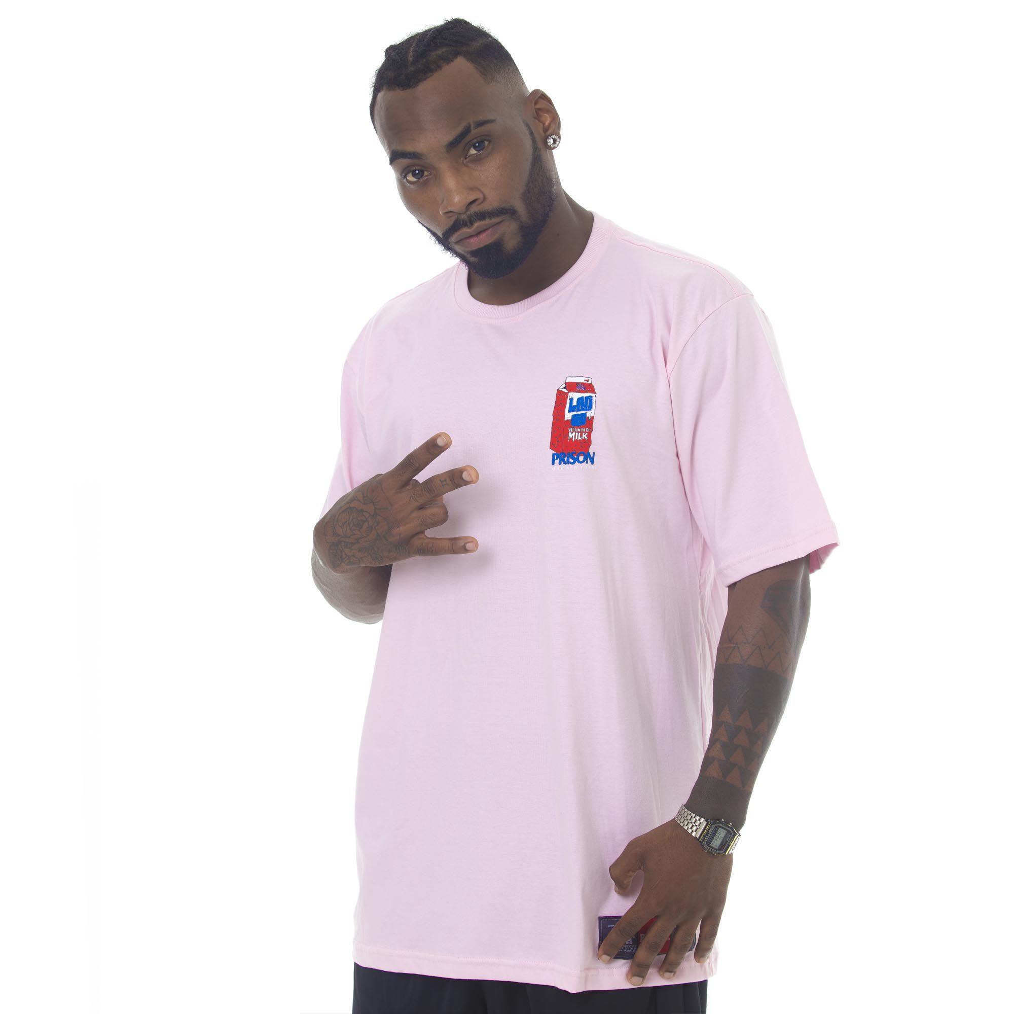 Camiseta Prison Acid Milk Rosa