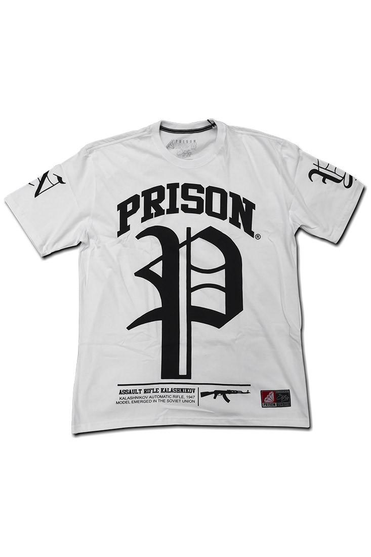Camiseta Streetwear Prison NY-AK Branca