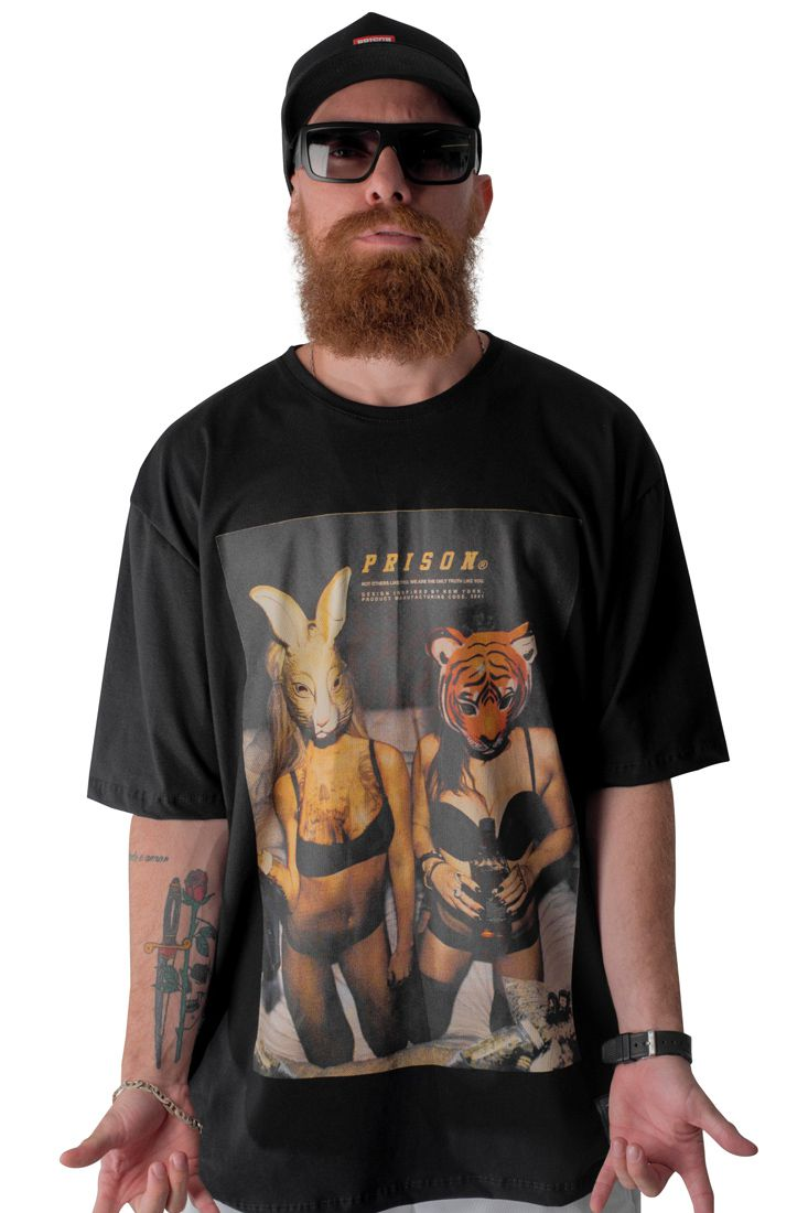 Camiseta Prison Animal Girls Preta