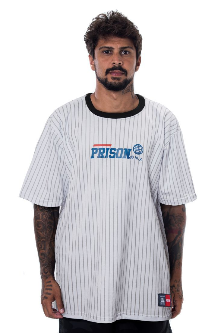 Camiseta Prison Athletic Lines Branca