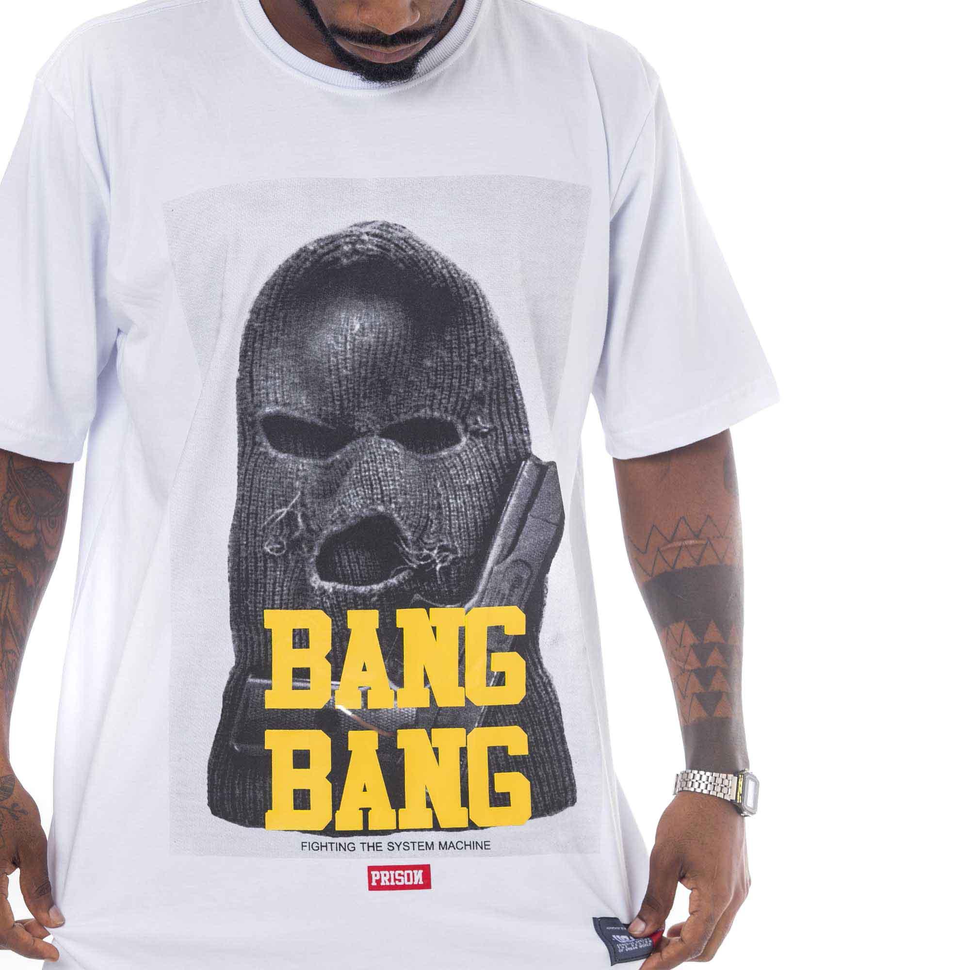 Camiseta Prison Bang Bang Branca