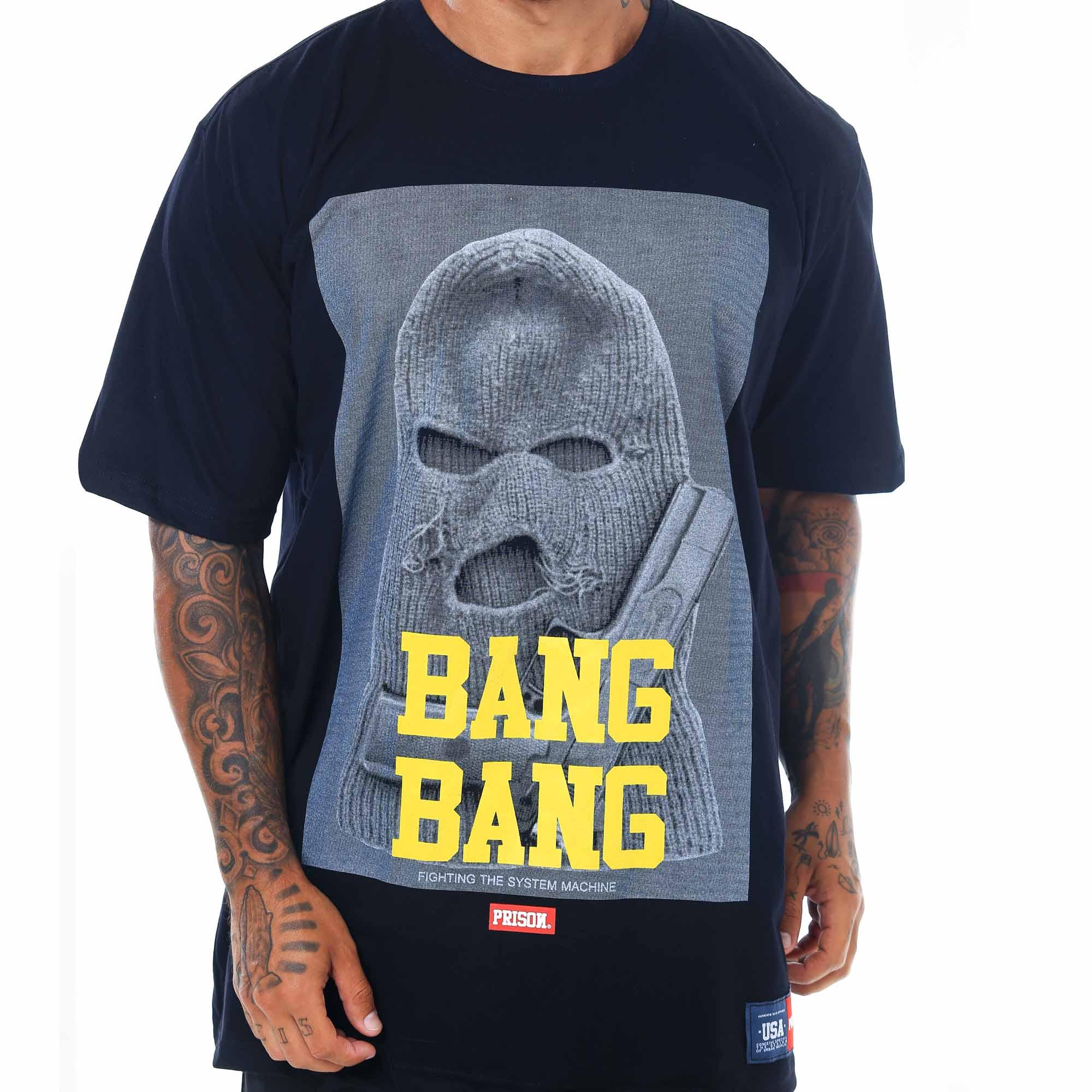 Camiseta Prison Bang Bang Preta
