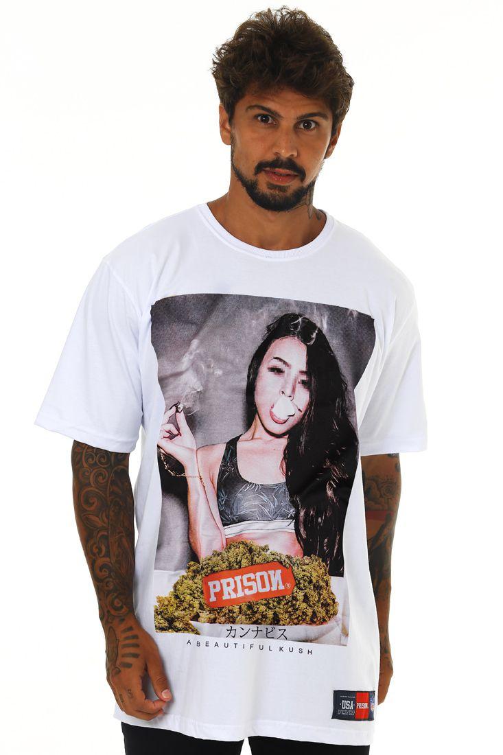 Camiseta Prison Beautiful Kush Branca