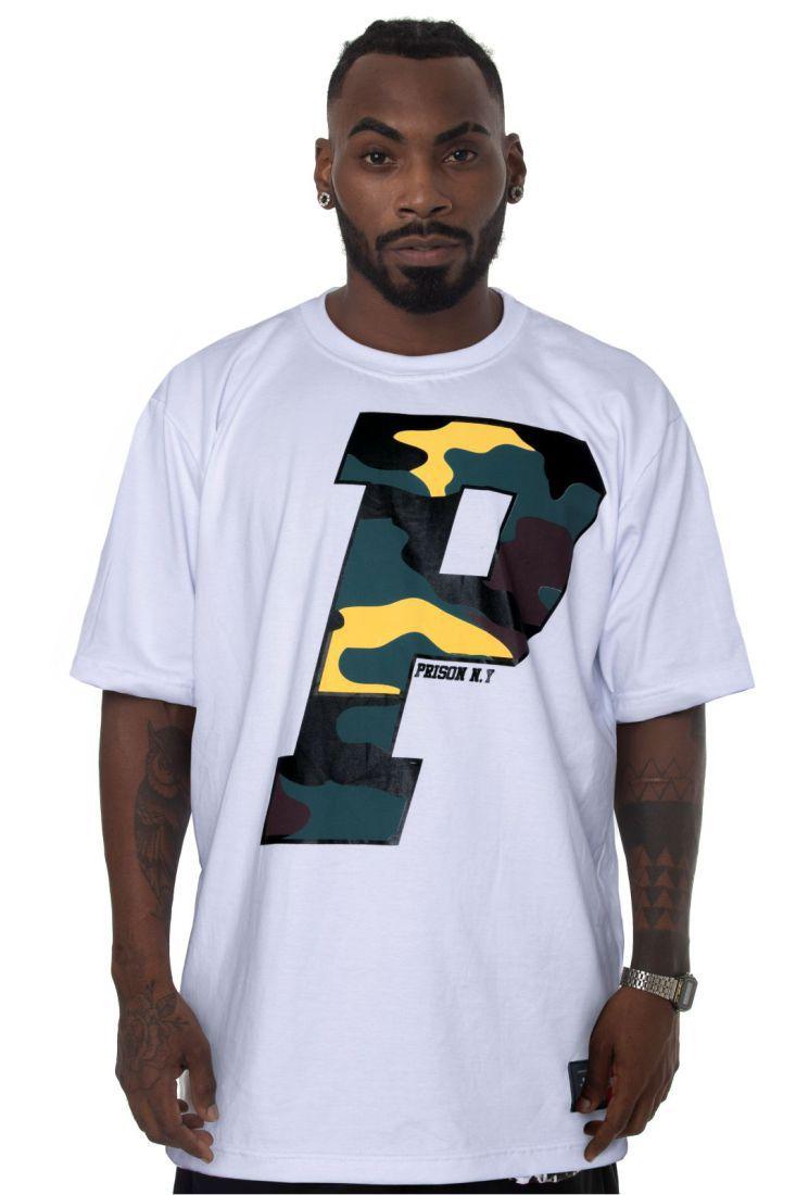 Camiseta Prison Big Letter Branca