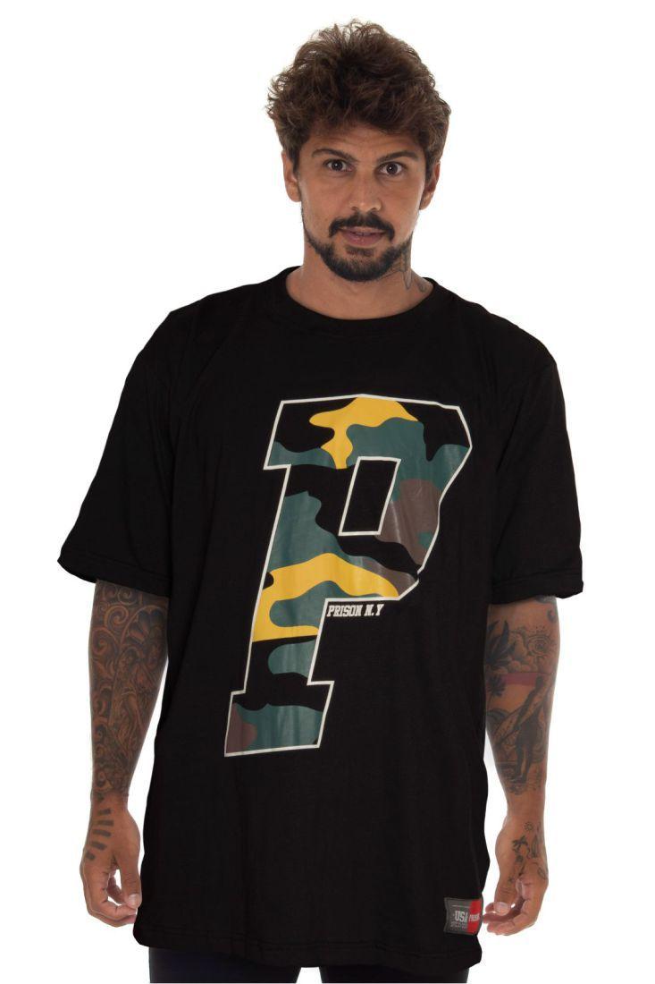 Camiseta Prison Big Letter Preta