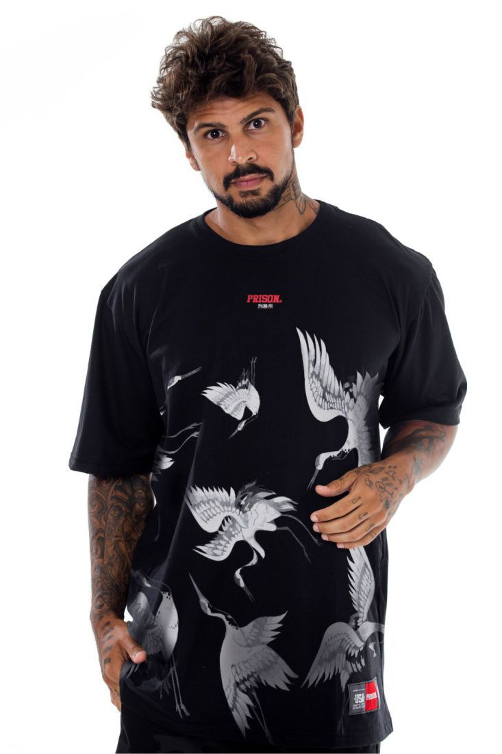 Camiseta Prison Birds Preta