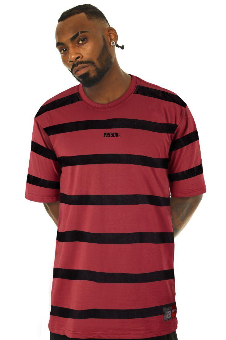 Camiseta Prison Black Lines Vinho
