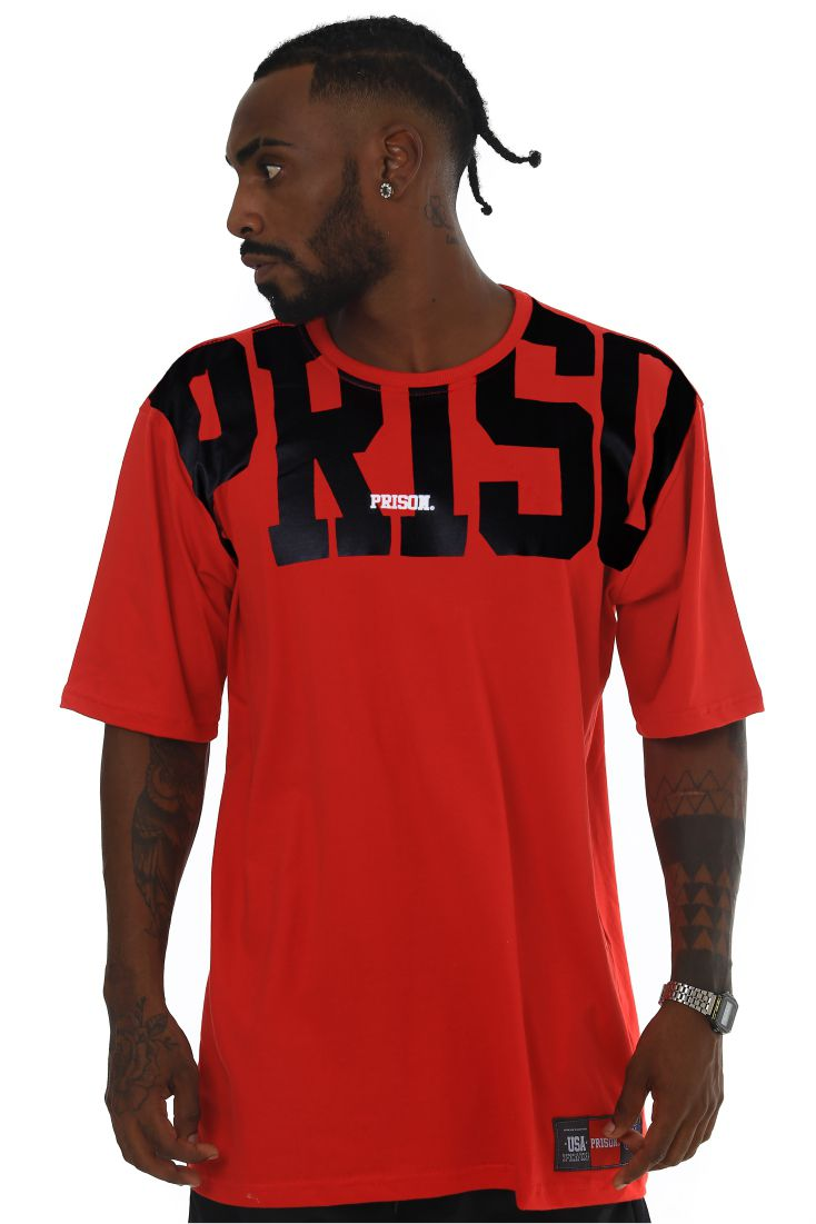 Camiseta Prison Black Shadow Vermelha