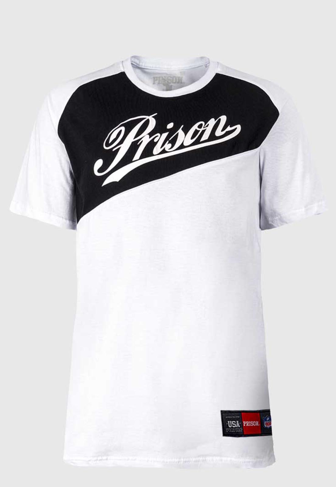 Camiseta Prison Branca Double Color