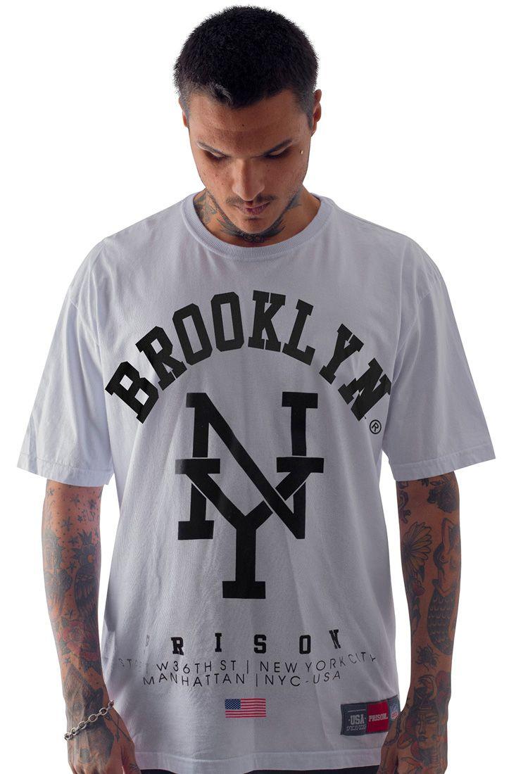 Camiseta Prison Brooklyn NY Branca