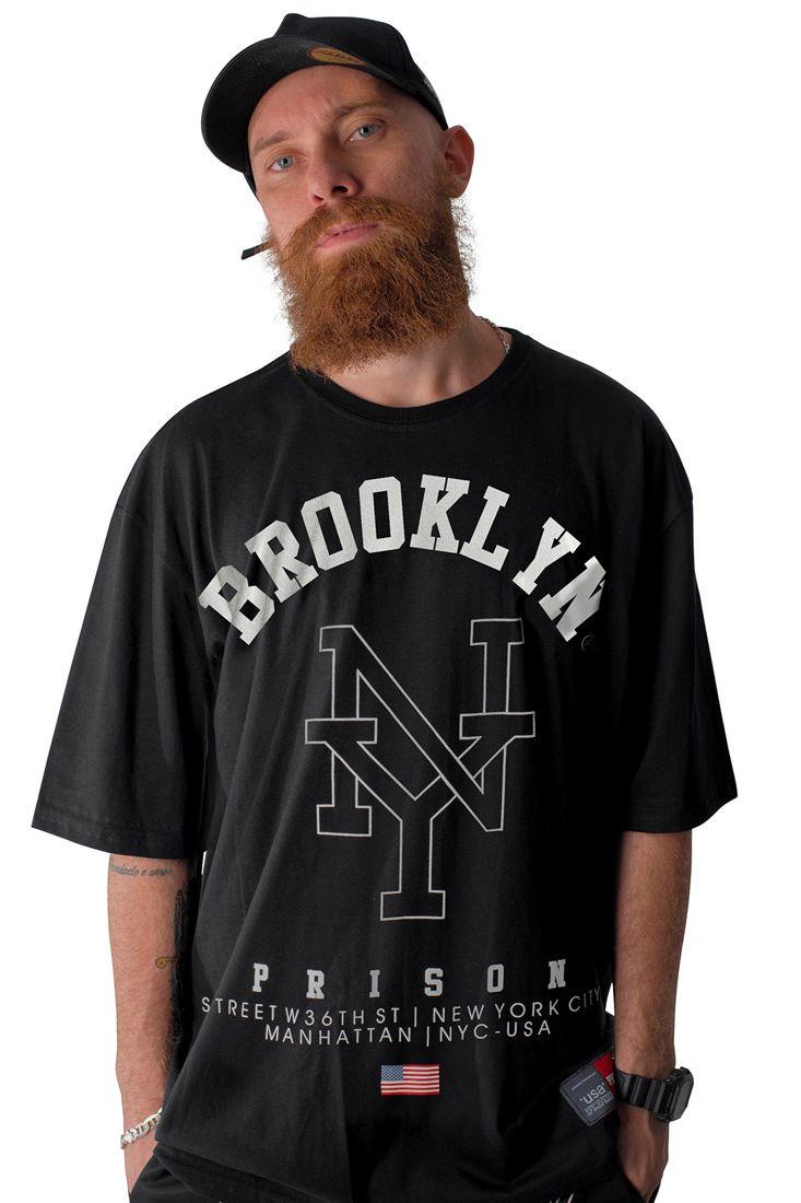 Camiseta Prison Brooklyn NY Preta
