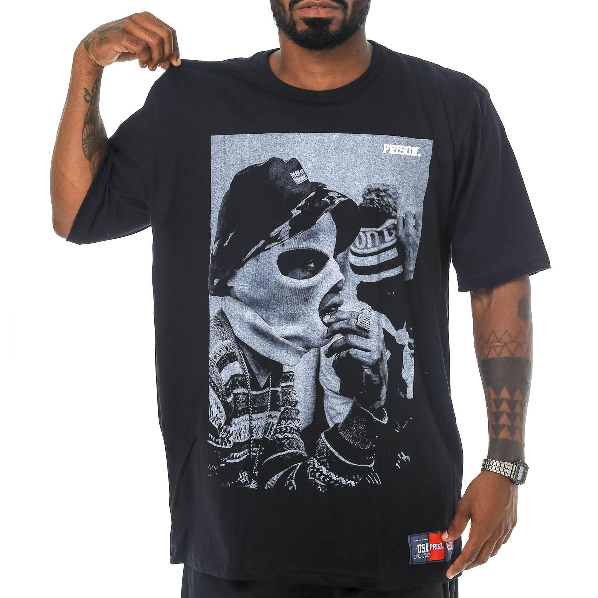 Camiseta Prison Bucket Rap Preto