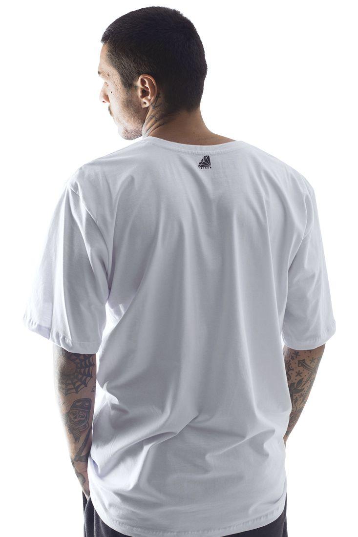 Camiseta Prison Camuflada Clean Branca