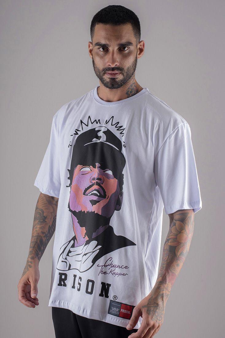 Camiseta Prison  Chance The Rapper Branca