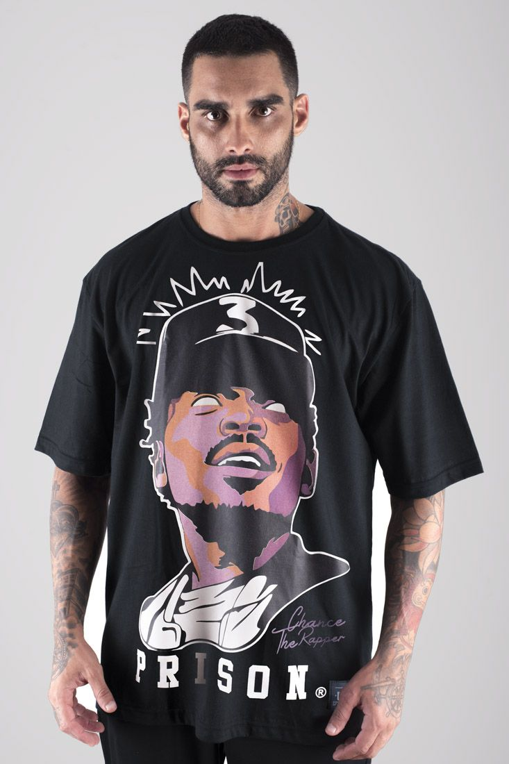 Camiseta Prison  Chance The Rapper Preta