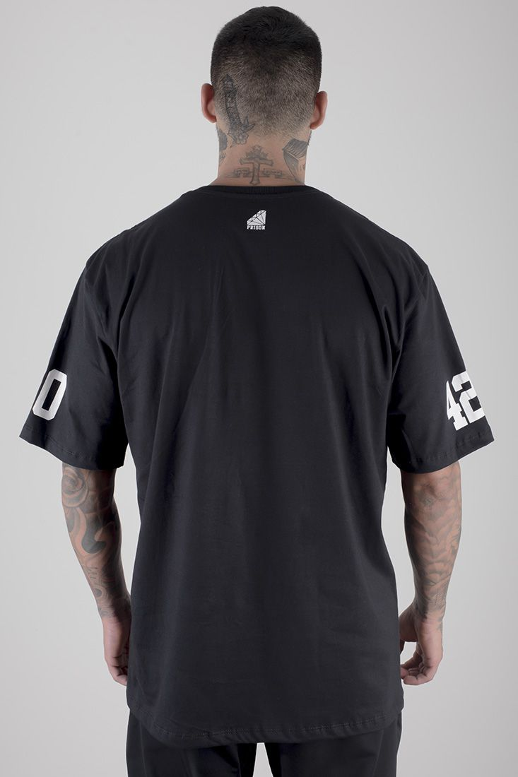 Camiseta Prison Cof Cof 420 Preto