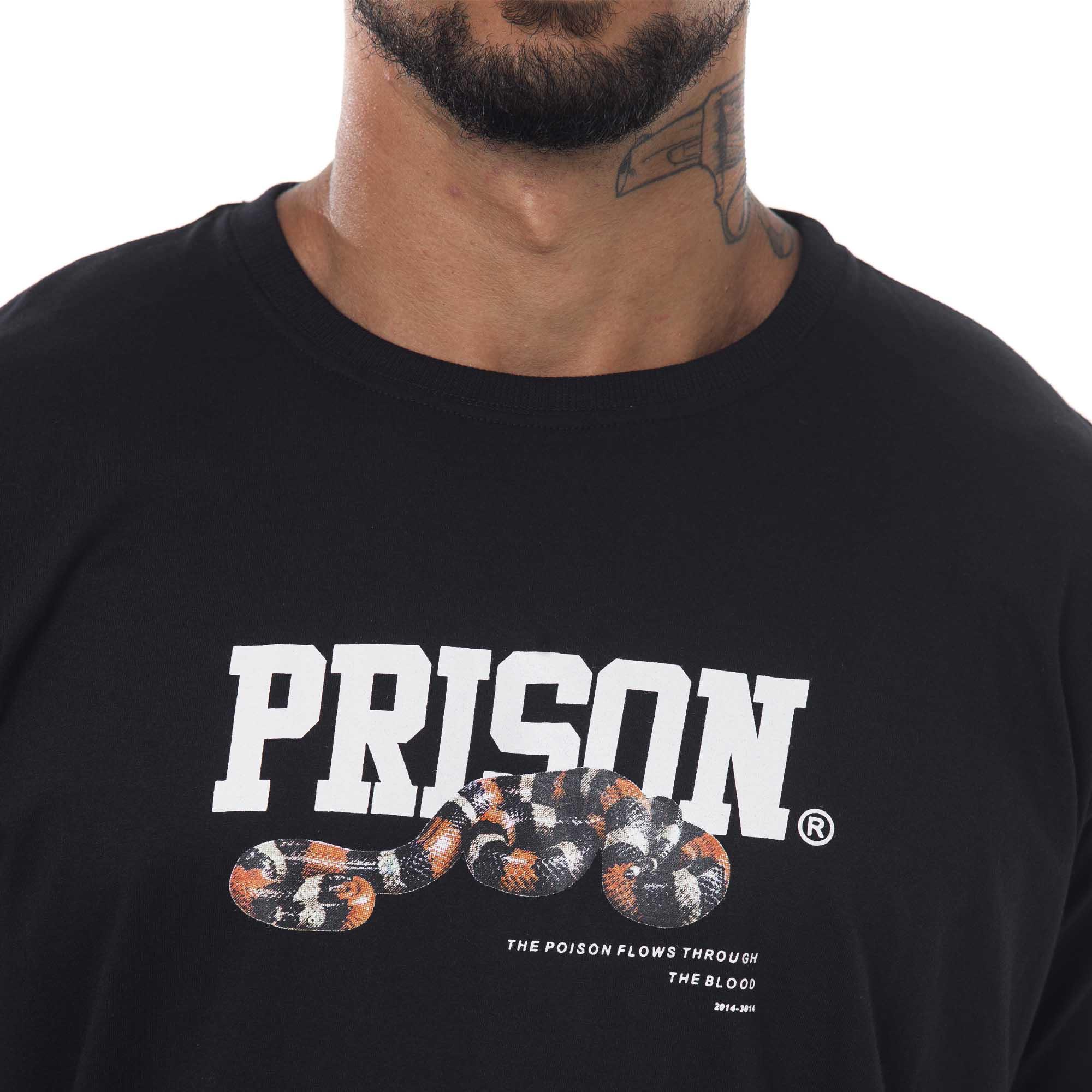 Camiseta Prison Coral Preta