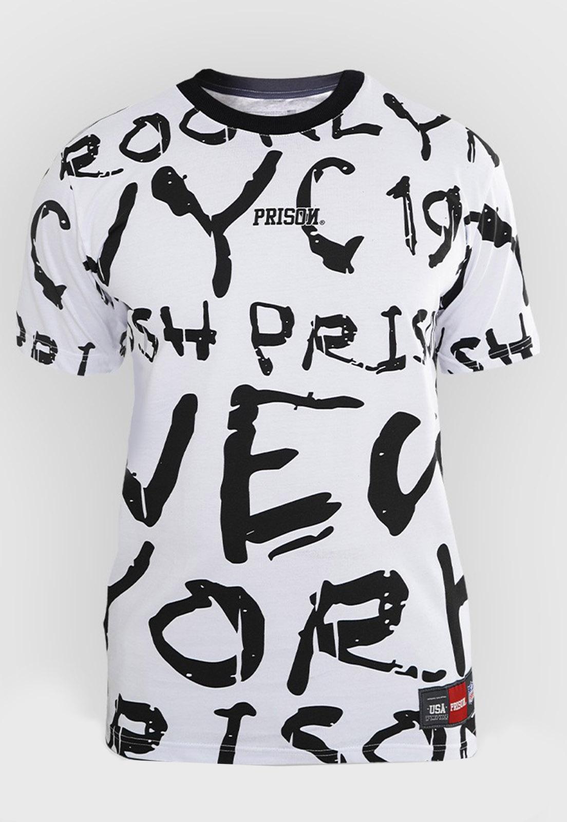 Camiseta Prison Crushed Branca