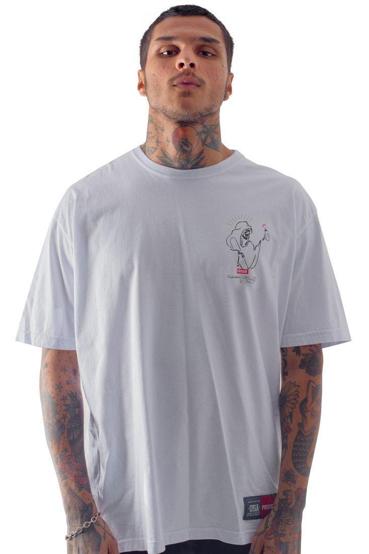 Camiseta Prison Skater Ghost Branca