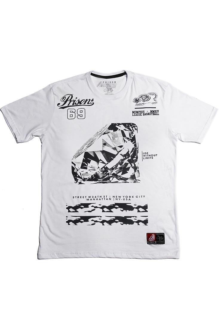 Camiseta Diamond White Prison Branca