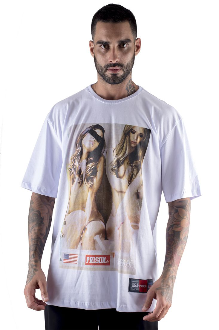 Camiseta Prison discret girls Branca