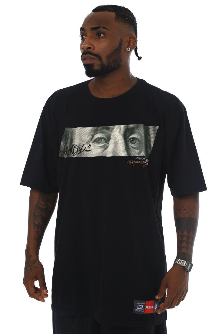 Camiseta Prison Dollar Paper Preta