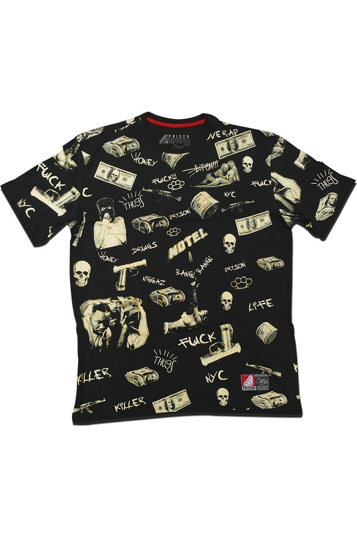 Camiseta  Prison Streetwear Dollar Preta