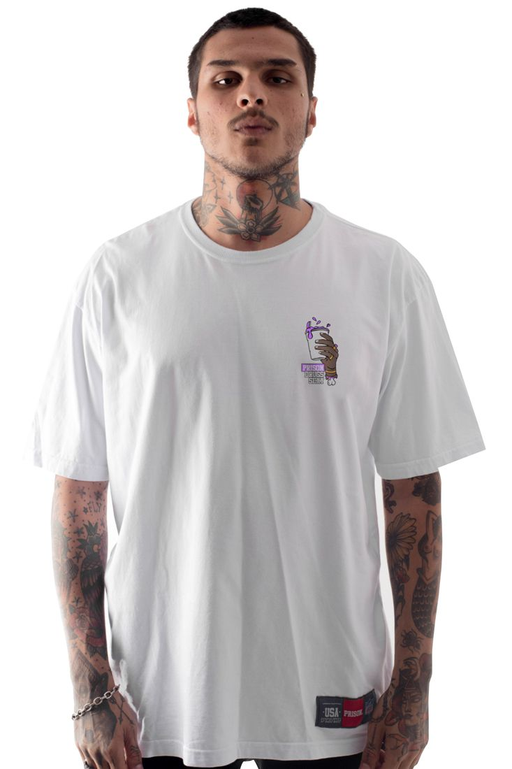 Camiseta Prison Drugs Sexy Branca