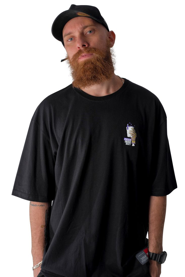 Camiseta Prison Drugs Sexy Preta