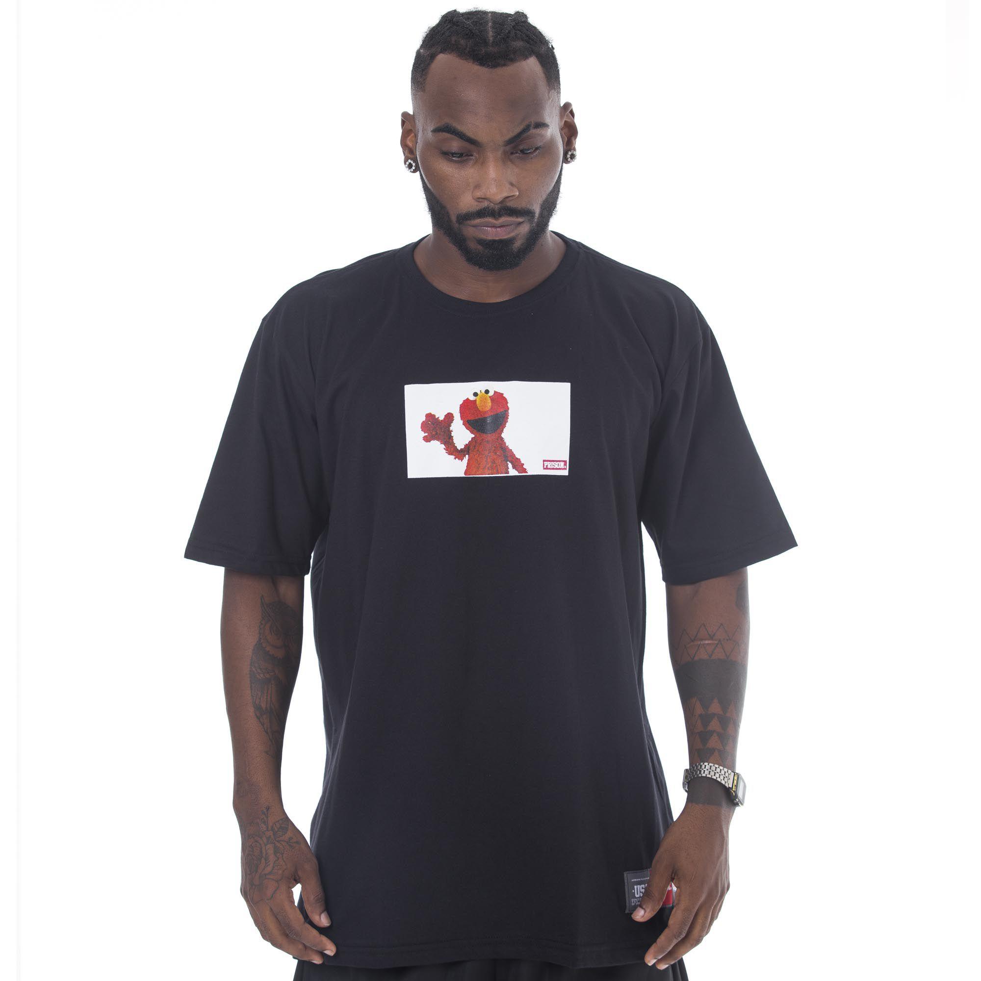 Camiseta Prison Elmo Clash Preta