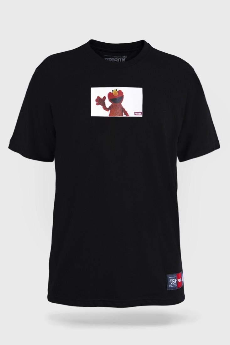 Camiseta Prison Elmo Preta
